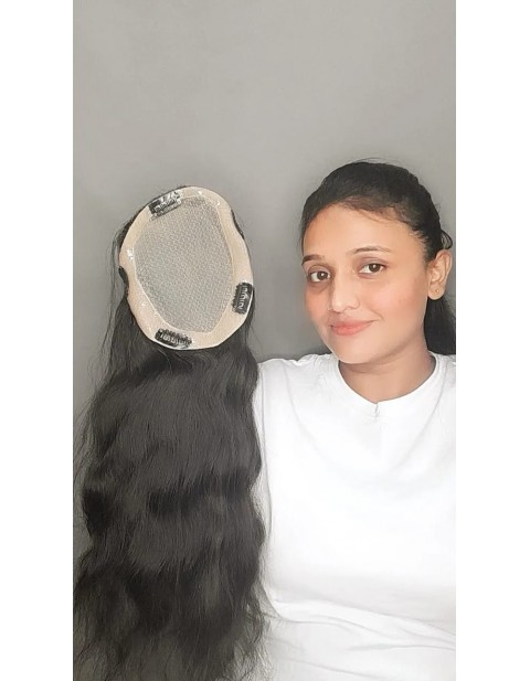 Natural Hair Wavy Lace Topper-5×5