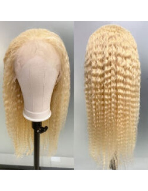 BLONDE CURLY FULL LACE WIG